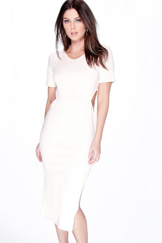 Sarah Split Cut Out Midi Dress