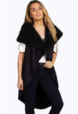 Ali Reversible Suedette Sleeveless Duster