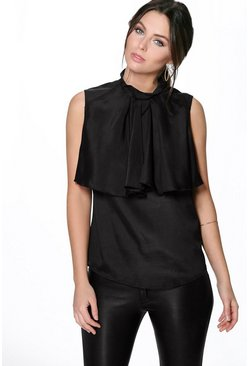 Sophie Ruffle Detail Sleeveless Blouse
