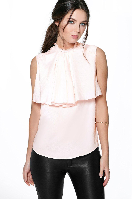 Women'S Sleeveless Ruffle Blouse 12