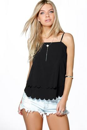 Grace Strappy Scallop Edge Cami