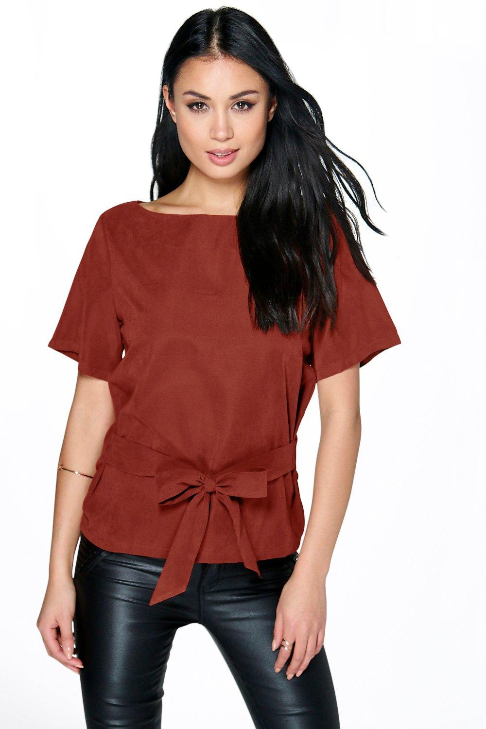 Lilly Tie Front Shell Top