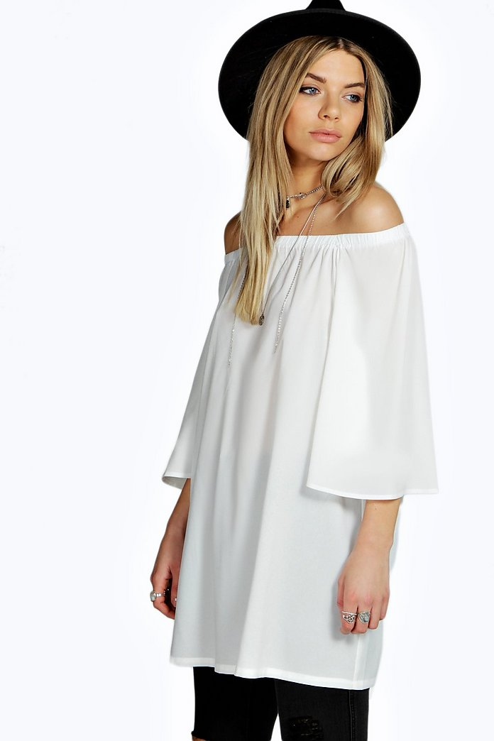 Ellie Off The Shoulder Woven Tunic