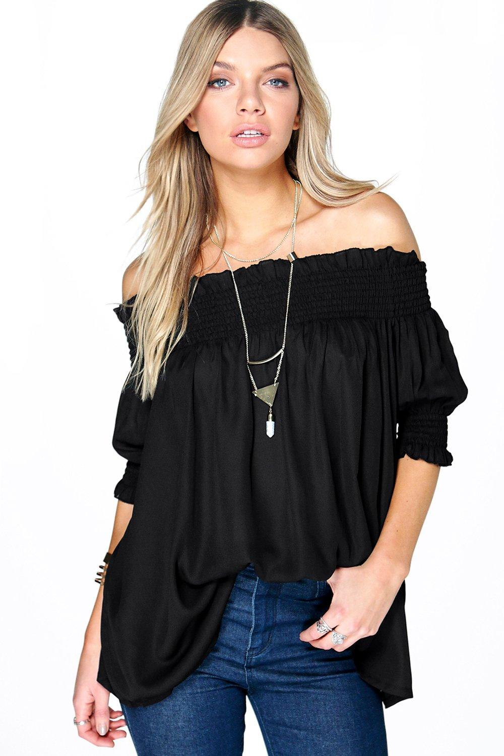 Zoe Woven Off The Shoulder Tunic