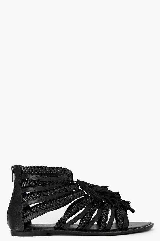 Boutique Multi Fringe Sandals