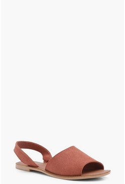 Boutique Mia 2 Part Peeptoe Suede Sandal