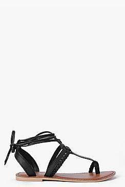Boutique Megan Toe Post Ghillie Sandal