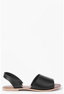 Boutique Lexi 2 Part Peeptoe Leather Sandal