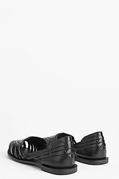 Boutique  Leather Woven Ballets