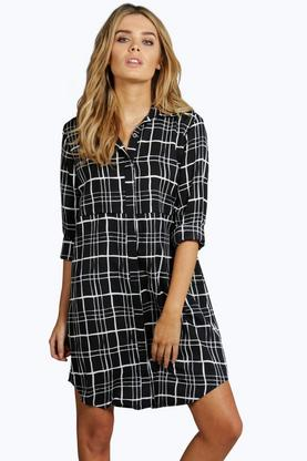 Chelsea Check Shirt Dress