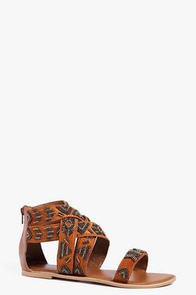 Boutique Emma Multi Strap Beaded Sandal