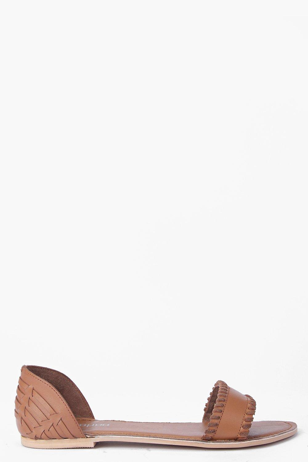Boutique Leila 2 Part Stitch Detail Sandal