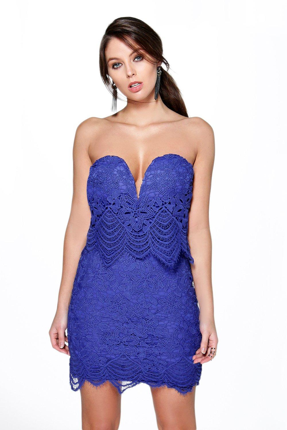 Boutique Kyla Double Layer Lace Bodycon Dress