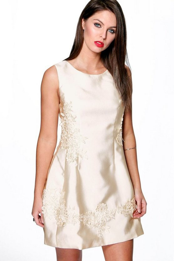 Boutique Maddie Lace Applique Prom Dress