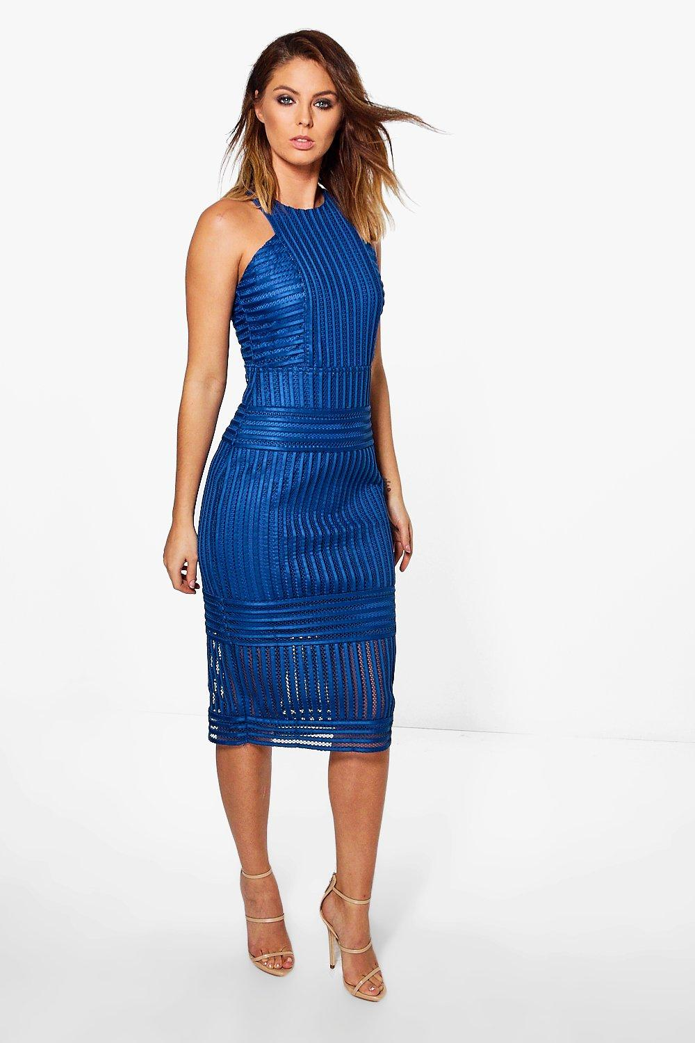 Boutique Olivia Panelled Cutaway Midi Dress