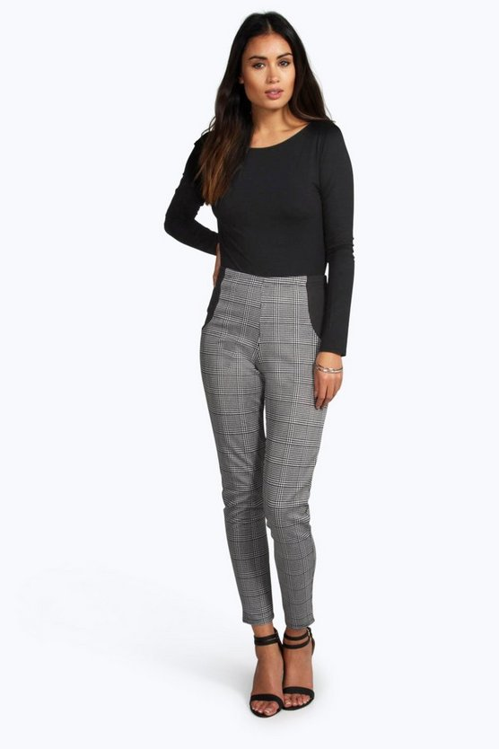Anya Dogtooth Side Panel Scuba Leggings