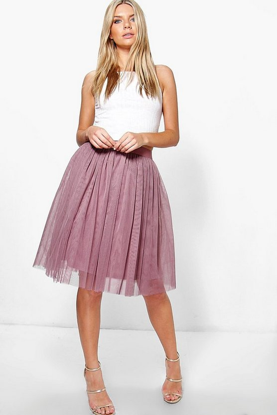 Amara Knee Length Tulle Skirt