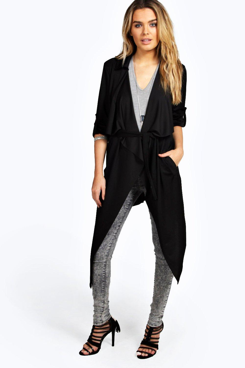 Belted Trench black