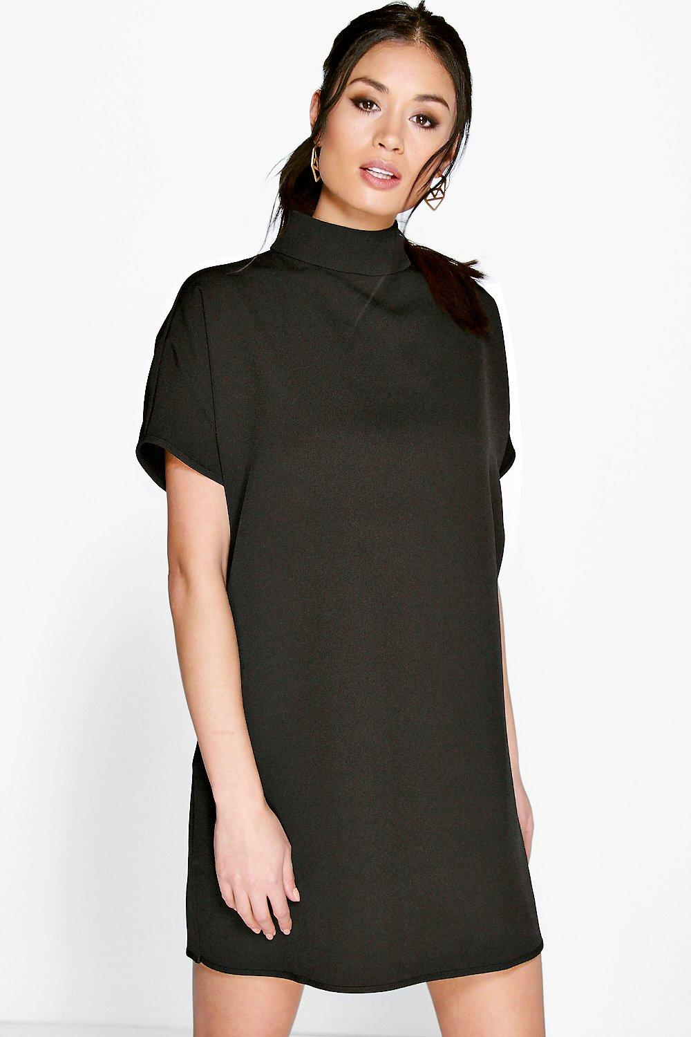 Natasha High Neck Box Shift Dress