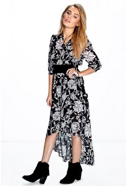 Maxine Dip Hem Maxi Dress