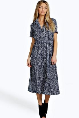 Annie Long Sleeve Shirt Dress