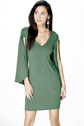 Carla Cape Sleeve Shift Dress
