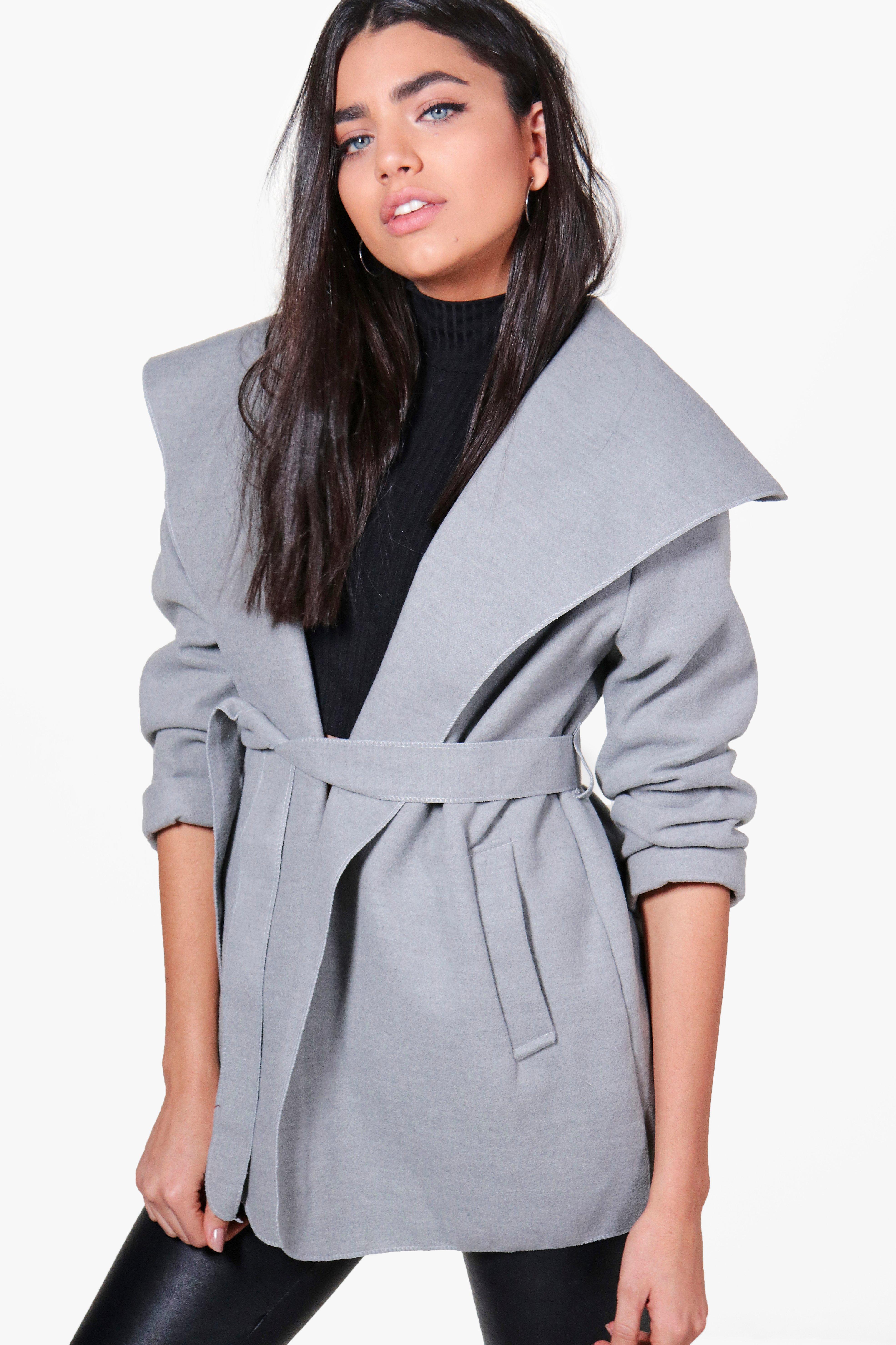 Waterfall Coat - grey