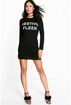 "Fiona """"Festive Fleek"""" Bodycon Christmas Dress"