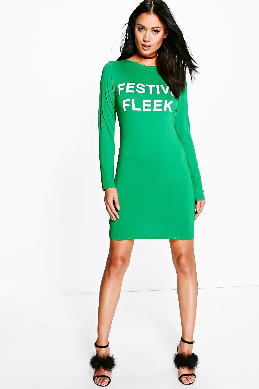 "Fiona ""Festive Fleek"" Bodycon Christmas Dress"