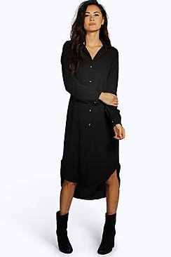 Ivone Long Line Shirt Dress