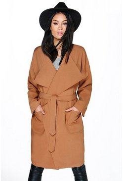 Melissa Waterfall Belted Duster