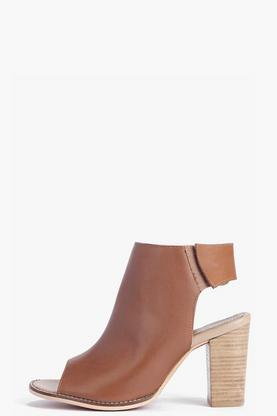 Boutique Charlotte Peeptoe Leather Sandal
