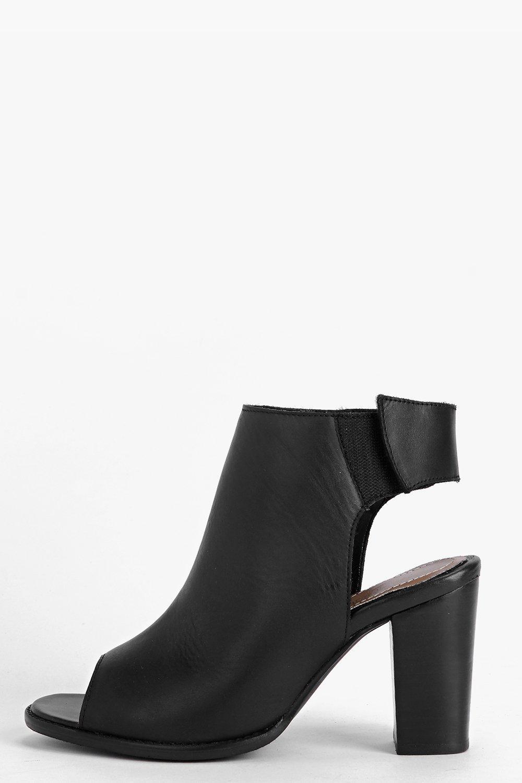 Isabella Peeptoe Leather Sandal black