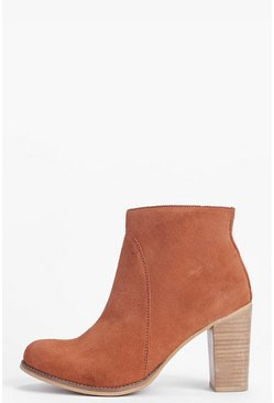 Boutique Imogen Suede Block Heel Ankle Boot