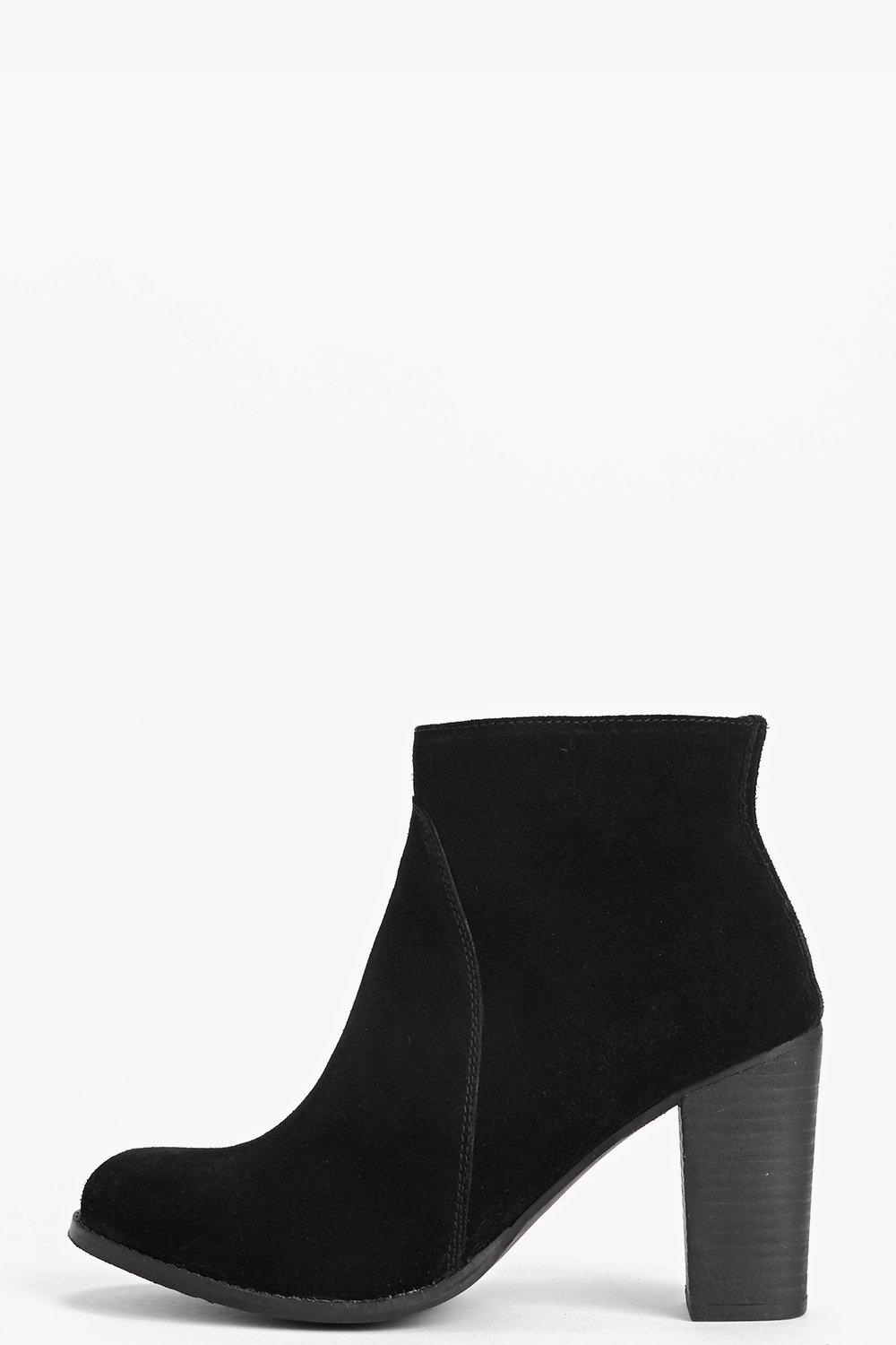 Boutique Lola Suede Block Heel Ankle Boot