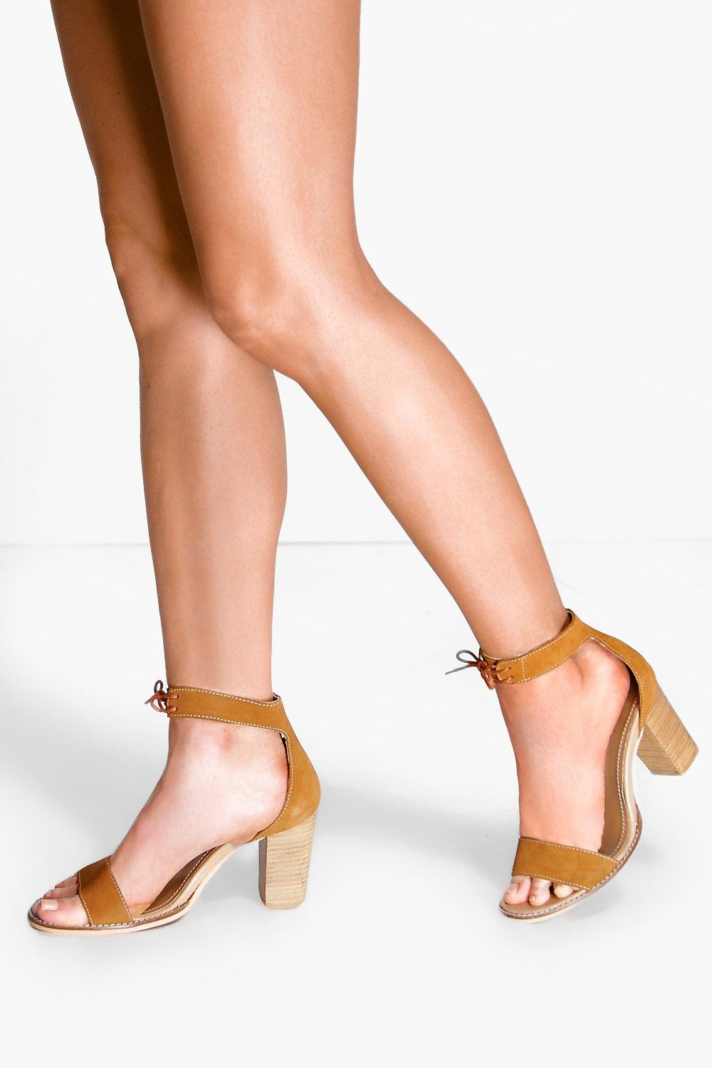 Boutique Alice Block Heel Suede 2 Part Sandal