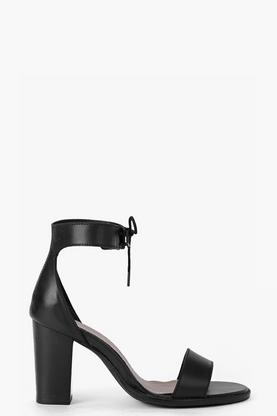 Boutique Eva Block Heel Leather 2 Part Sandal