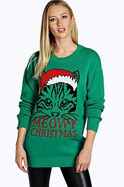 Ella Meowy Christmas Jumper