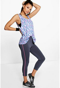 Kate Fit Breathable Capri Running Legging