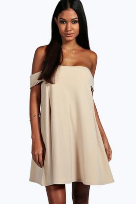 Ingrid Off The Shoulder Detail Swing Dress