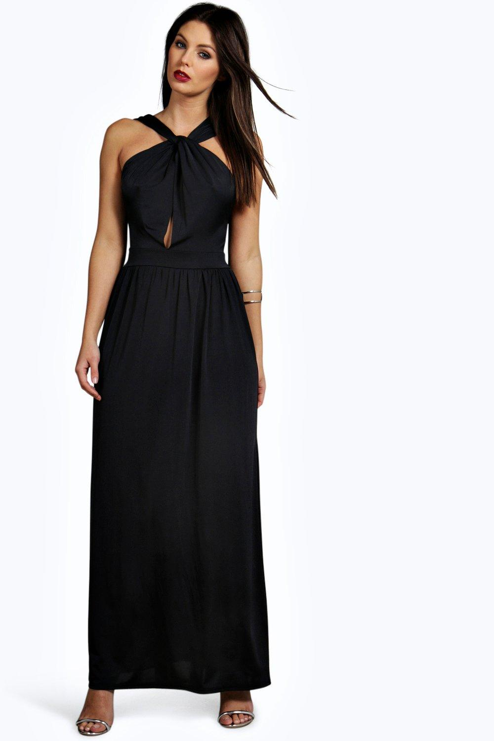 Harriet Slinky Knotted Front Maxi Dress