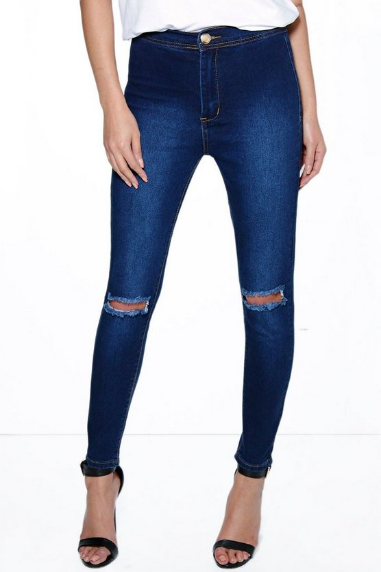 Lara High Rise Ankle Grazer Jeans