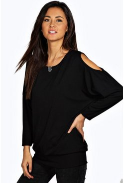 Emily Ribbed Oversized L/S Top