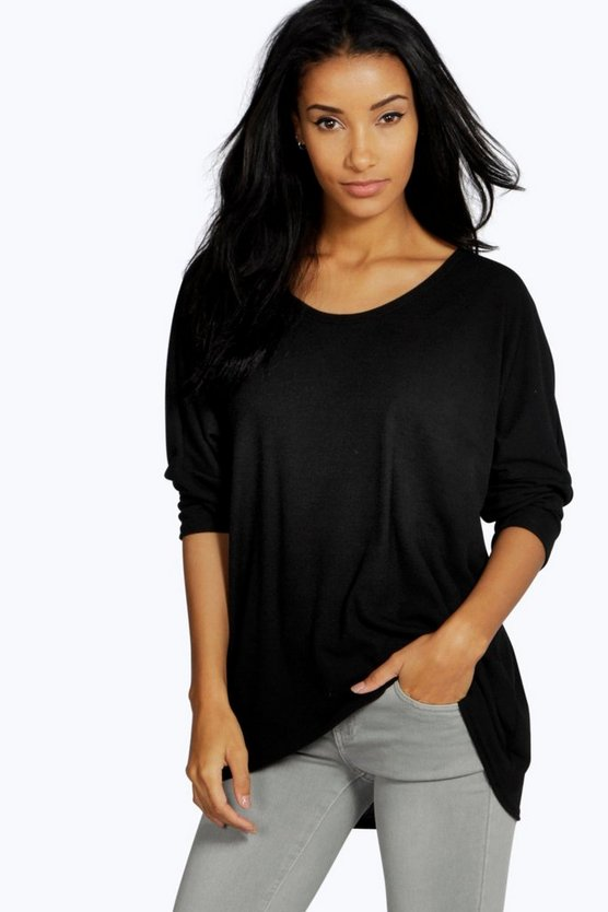 Kourtney Rib Oversized Longline Tee