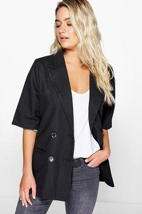 Lexi Short Sleeve Double Breasted Blazer