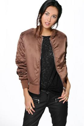 Esther Quilted Sleeve MA1 Bomber