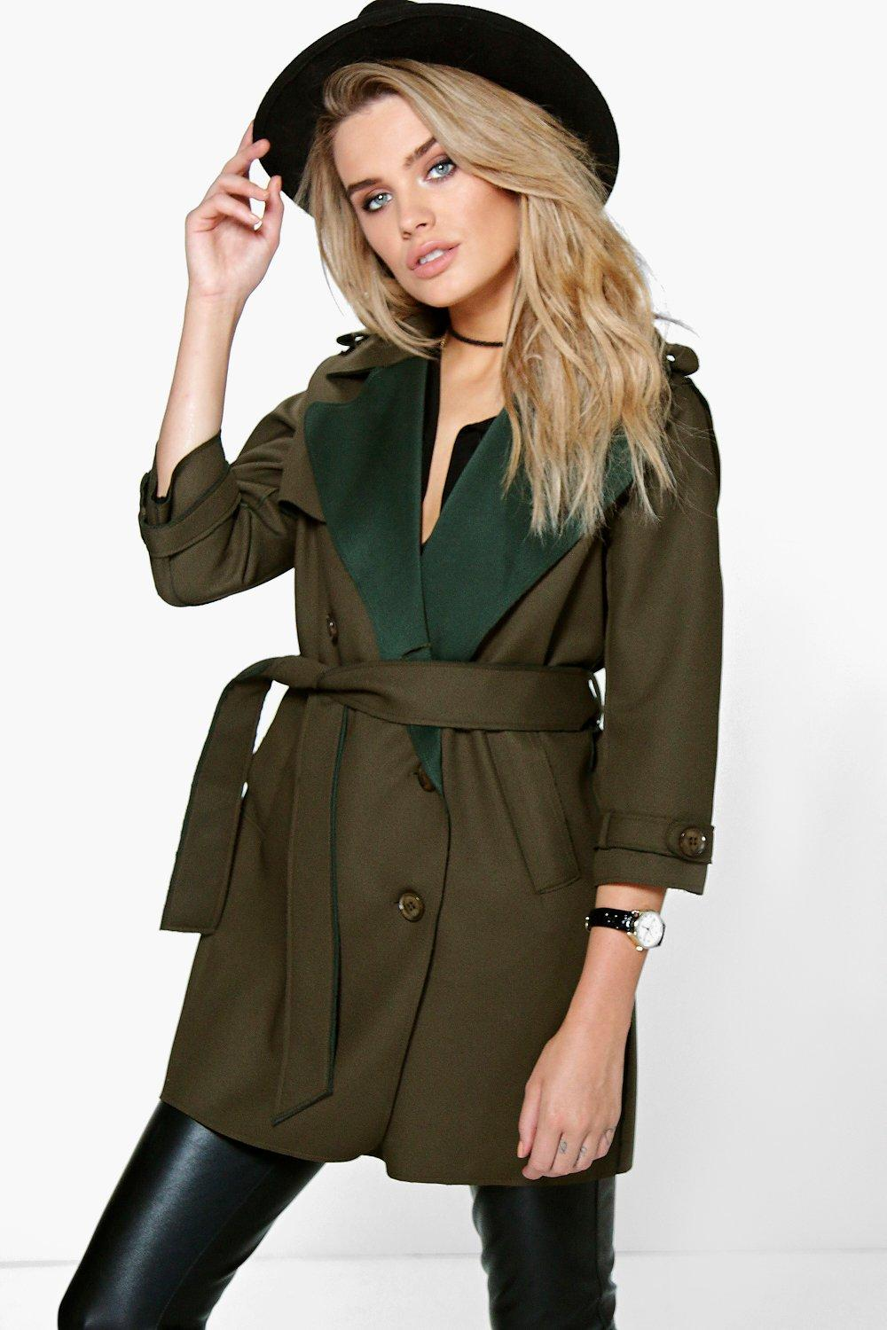 Boutique Eve Bonded Waterfall Trench