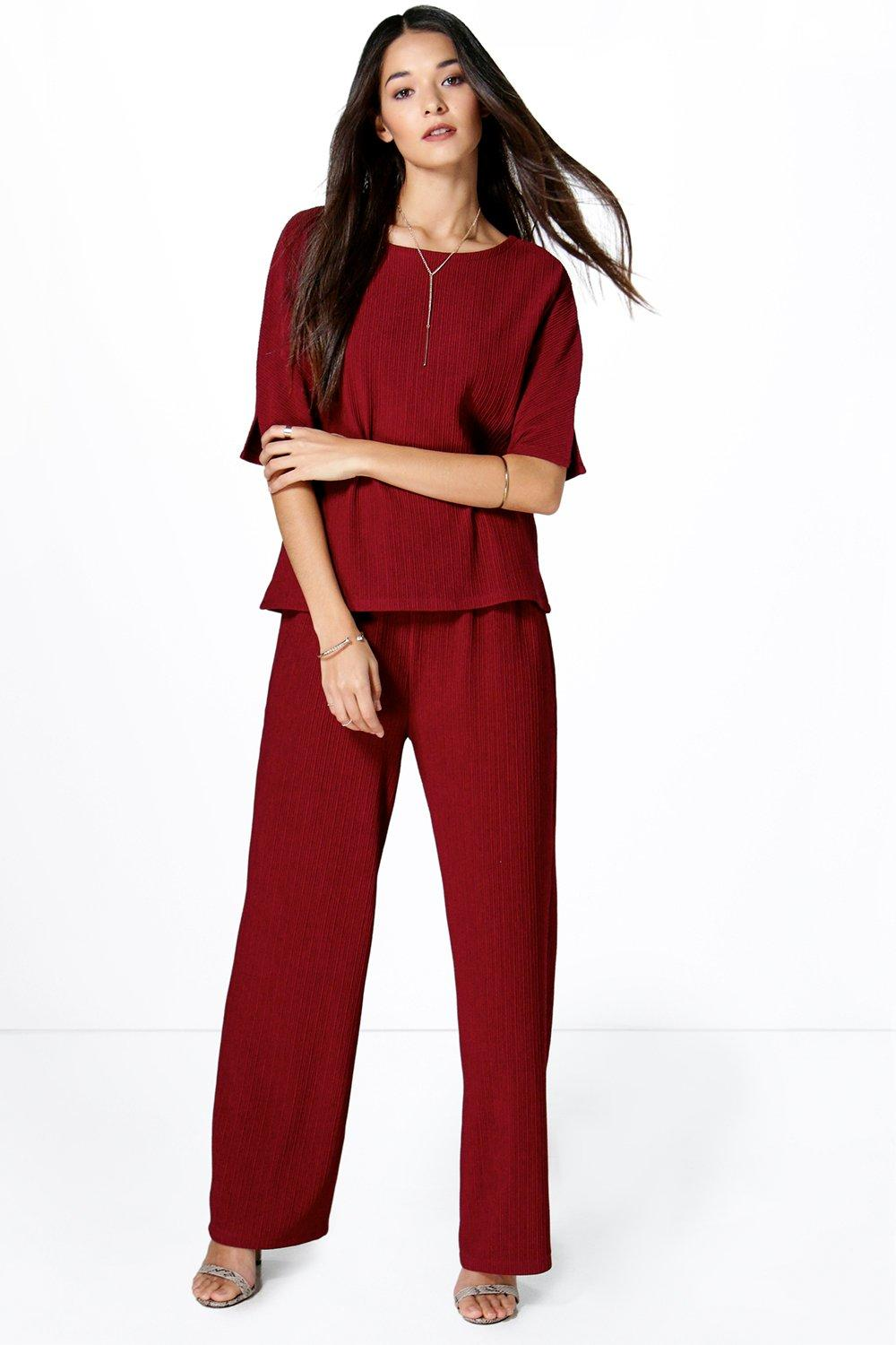 Lottie Textured Cropped Trouser