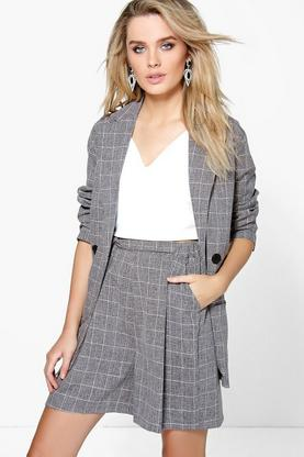 Alexandra Belted Grid Check Short