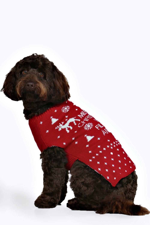 Merry Xmas Ya Filthy Animal Dog Jumper - red